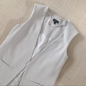 TOPSHOP Sleeveless Gray Blazer Vest 6